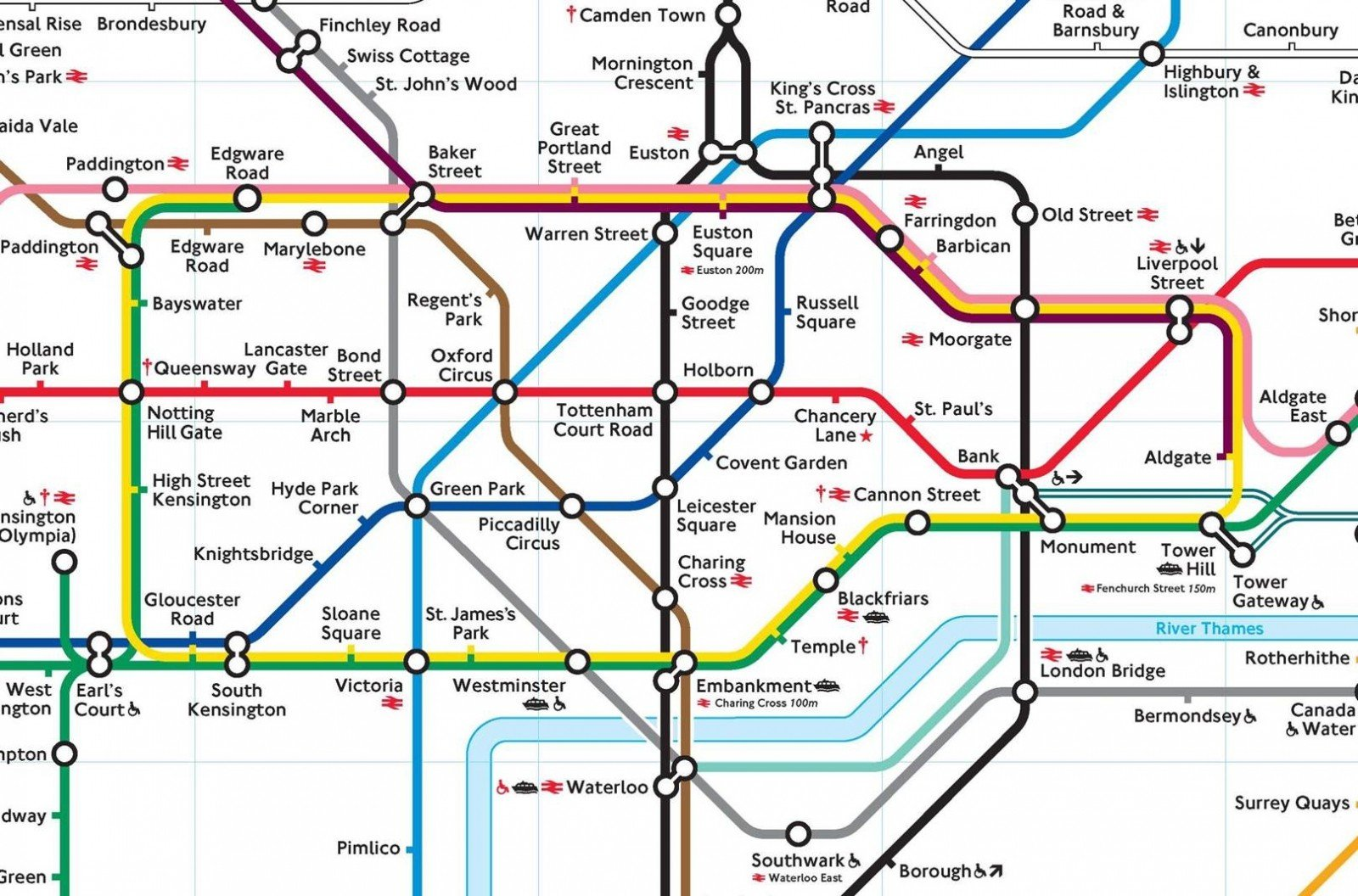 Baker street london tube line